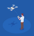 remote controlled quadrocopter composition vector image vector image