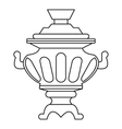 Russian samovar icon outline style vector image vector image