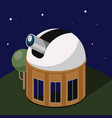 scientific space observatory isometric vector image