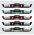 scoreboard elements football vector image vector image