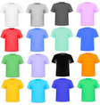 Set of colorful knitted shirts