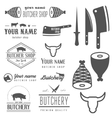 Set of vintage logo and logotype elements for vector image vector image