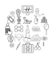 spa icons set outline style vector image