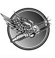 spark plug spark wing motorcycle club logo vector image
