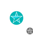 Star logo round graphic shape mockup design vector image