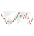 trade stock chart forex with candles graph vector image