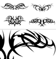 Tribal tattoo designs set vector image