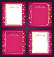 valentine greeting card vector image vector image