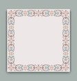 vintage square frame with ornamental pattern vector image vector image