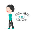 welcome back to school background with vector image vector image