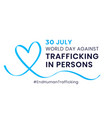 world day against trafficking in persons annual vector image