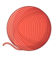 Yarn ball toy for cat icon cartoon style vector image