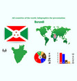 42 burundi all countries of the world vector image