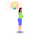 a woman understands that she is pregnant genious vector image