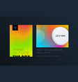 abstract colourful graphic design of brochure in vector image