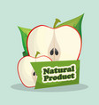 apple natural product market design vector image vector image