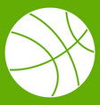 basketball ball icon green vector image vector image