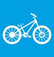 bike icon white vector image vector image