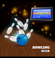 bowling strike 3d vector image