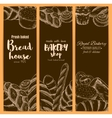 Bread house banners for bakery shop sketch vector image vector image