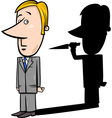 businessman and evil shadow vector image vector image