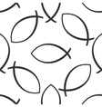 Christian fish icon pattern on white background vector image vector image