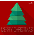 Christmas tree greeting card template
