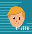 cute man cartoon vector image