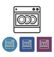dishwashing machine line icon in different vector image vector image