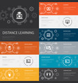 distance learning infographic 10 line icons vector image vector image