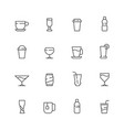 drinks icon tea coffee water cold and hot vector image