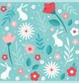 easter seamless patterns spring pattern for vector image vector image