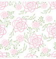 endless pattern doodle roses vector image vector image