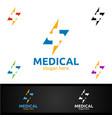 fast cross medical hospital logo for emergency vector image vector image