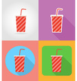 fast food flat icons 02 vector image vector image