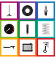 Flat icon auto set of car segment input vector image