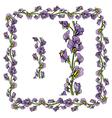 flower frame 2 380 vector image vector image
