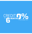 Free credit typography 6 months credit free vector image vector image