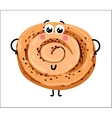 Funny cookie isolated cartoon character vector image vector image