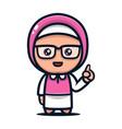 geek mascot vector image vector image