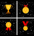 gold awards set vector image vector image
