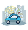 gps vehicle tracking vector image vector image