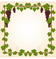 Grape square frame vector image vector image