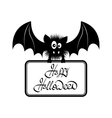 Happy Halloween Bat vector image vector image