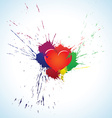 Heart with blots vector image vector image