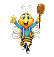 honey bee vector image vector image