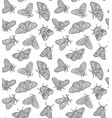 ink butterflies seamless pattern hand drawn vector image vector image