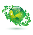 leaf earth vector image vector image