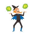 Magicians and wizards show old man vector image vector image