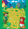 maze 20 with fairy tale theme vector image